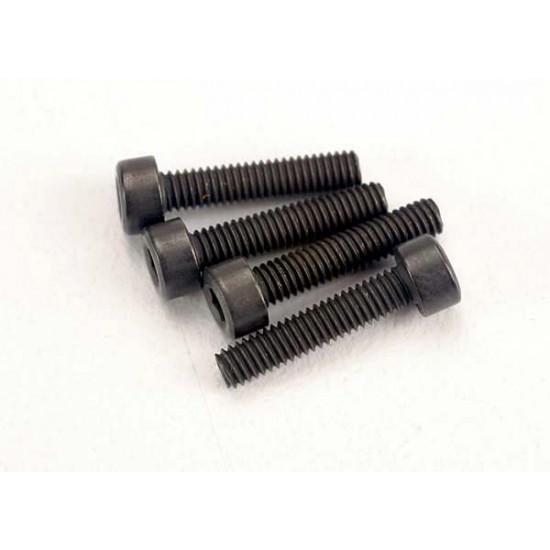 Screws, 2.5x12mm, cap head, hex drive (6)