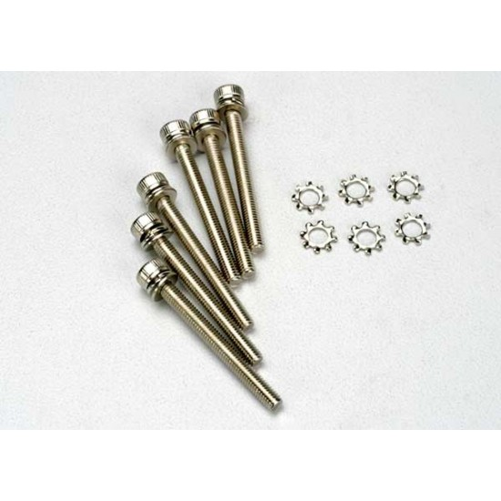 Screws, 3x28mm, cap head, hex drive (6)