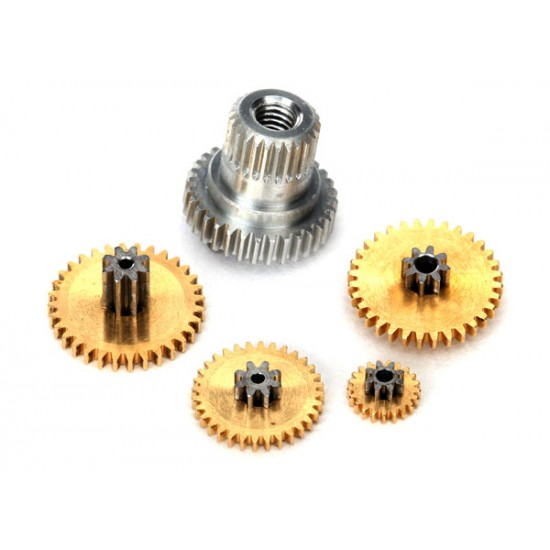 Gear set, 2065X sub micro servo, metal