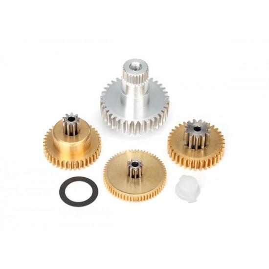Gear set, 2085 and 2085X servo, metal