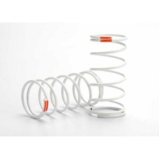 Springs, white, GTR shock, front, 0.9 rate, orange (2)