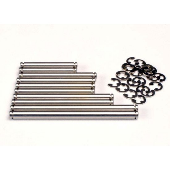 Suspension pin set, stainless steel, E-clips