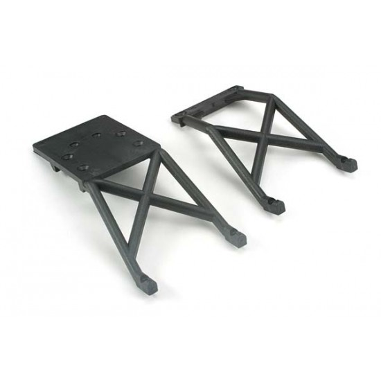 Skid plate set, front and rear, black