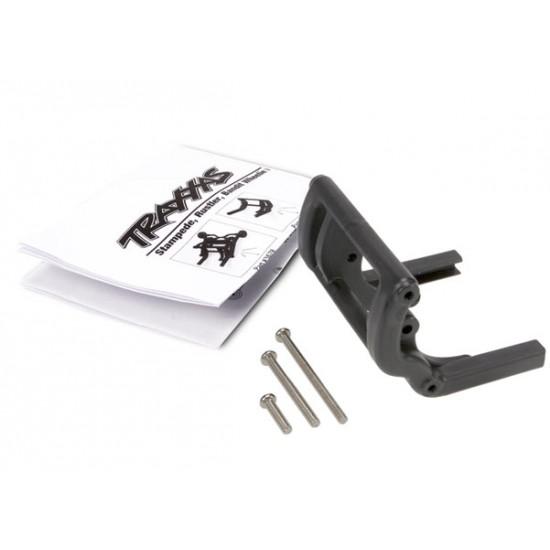 Wheelie bar mount, black, Traxxas Rustler / Stampede