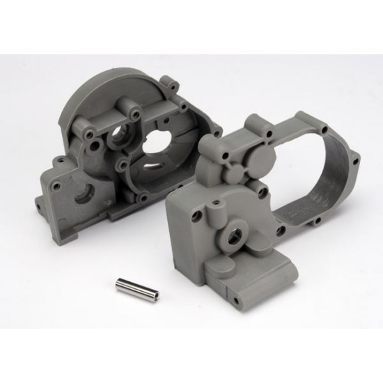 Gearbox halves, left and right, idler gear shaft, grey
