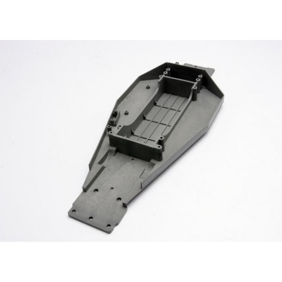 Lower chassis, grey, Traxxas Rustler