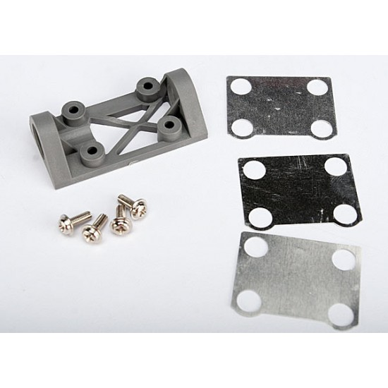 Bearing block, front, supports front shaft, grey