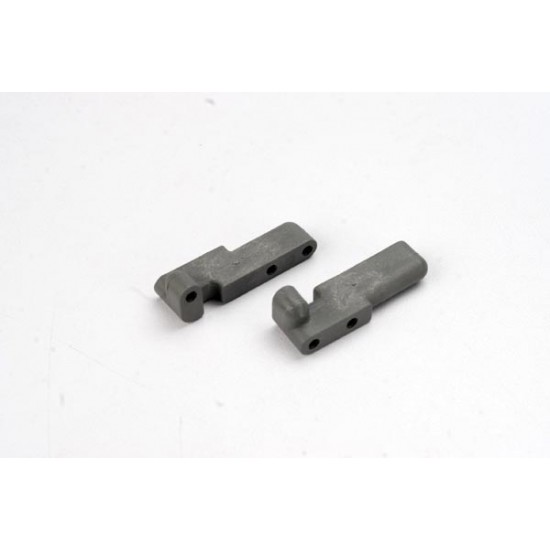 Servo mounts, steering, shift, front and rear, grey (2)