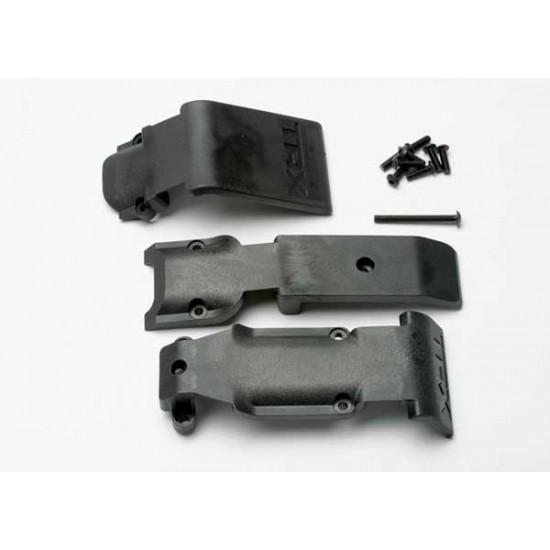 Skid plate set, front and rear, screws