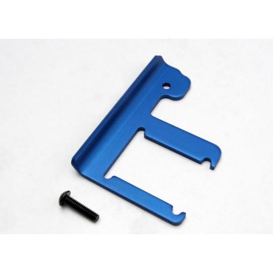 Chassis brace, 3mm 6061-T6 aluminum, blue anodized, 4x16mm BCS