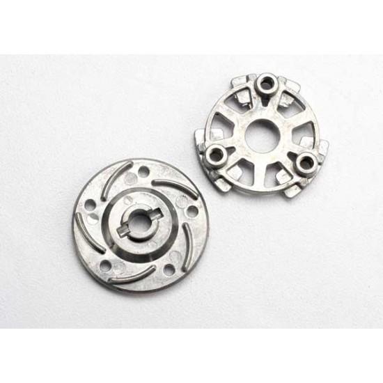 Slipper pressure plate and hub, aluminum