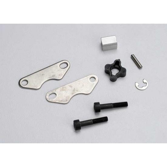 Brake pads, brake disc hub, 3x15mm screws, pin
