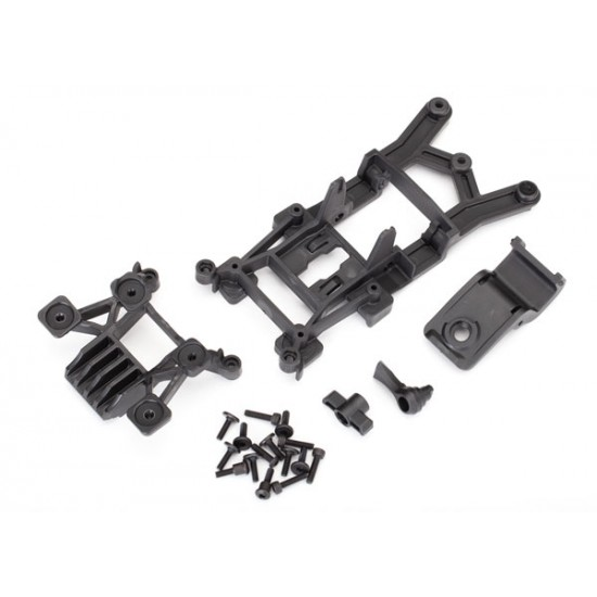 Body mounts, front and rear, screws, Rustler 4x4