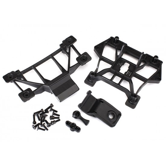 Body mounts, front and rear, screws, X-Maxx