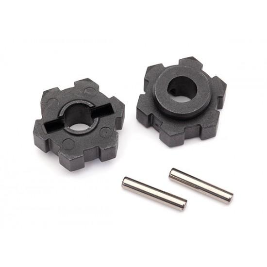 Wheel hubs, splined, 17mm, pins (2)