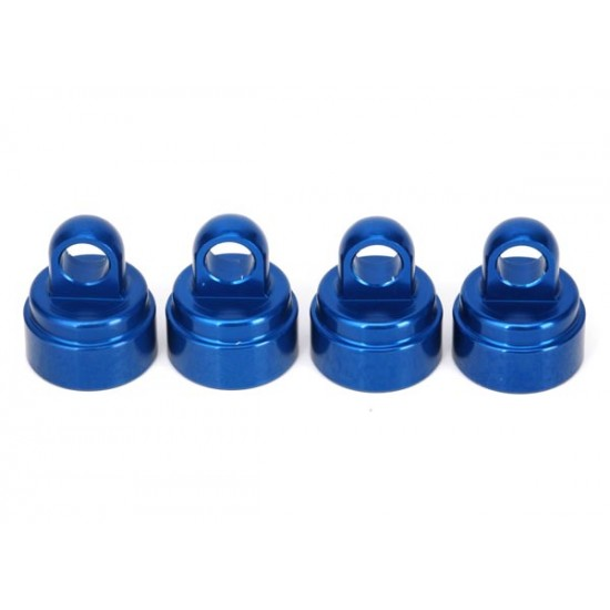Shock caps, aluminum, blue, Ultra Shocks (4)