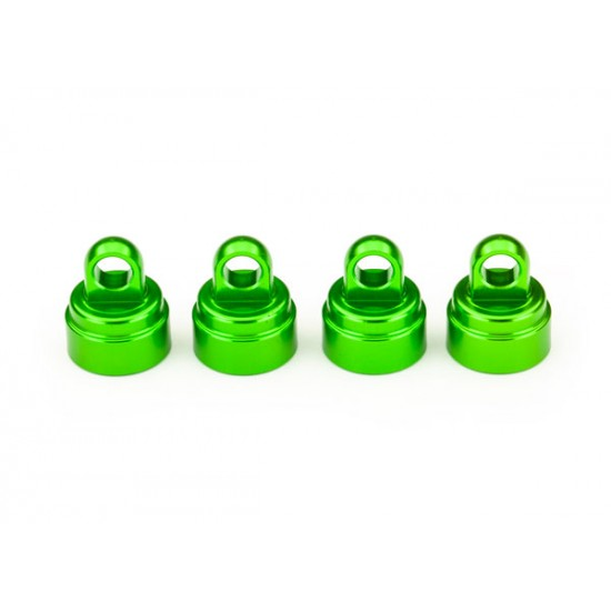 Shock caps, aluminum, green, Ultra Shocks (4)