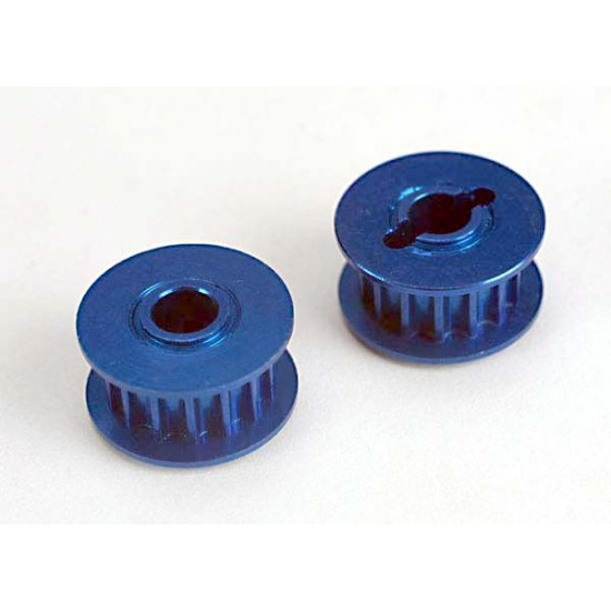 Pulleys, 15-groove, front and rear, aluminum (2)