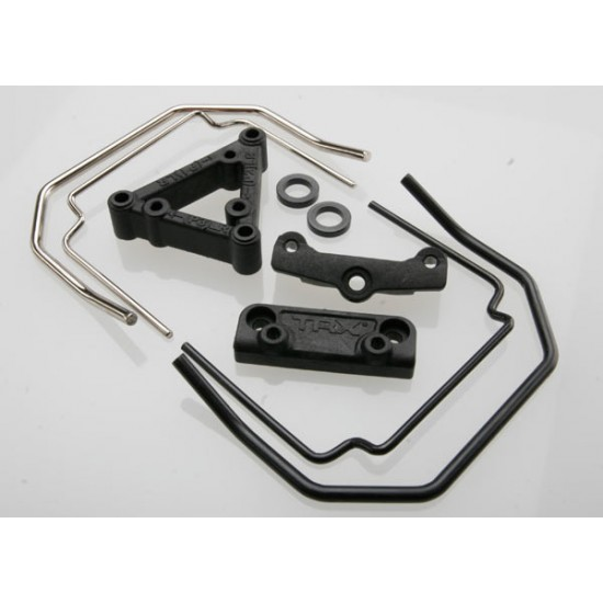 Sway bar mounts, front and rear, sway bar wires