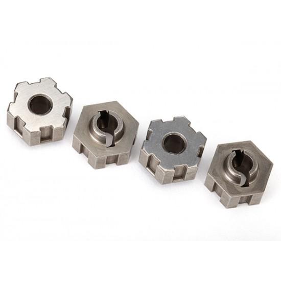 Wheel hubs, hex, 17mm, steel, splined (4)