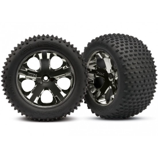 Tires and wheels, black chrome wheels, Alias tires, 2WD rear (2)