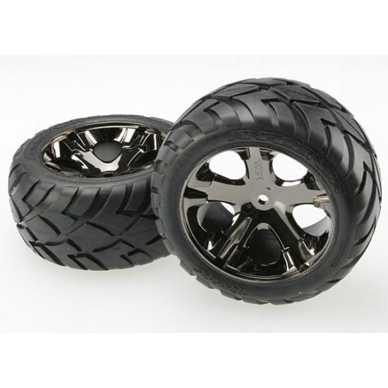 Tires and wheels, black chrome wheels, Anaconda tires, 2WD rear (2)