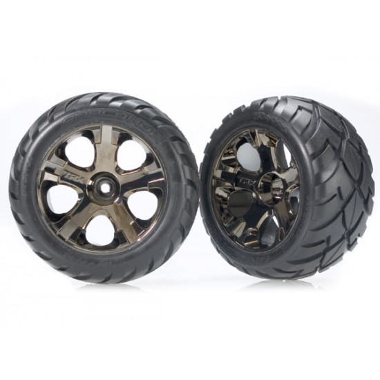 Tires and wheels, black chrome wheels, Anaconda tires, rear (2)