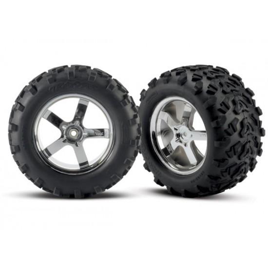 Tires and wheels, Hurricane chrome wheels, Maxx tires (2)