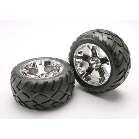 Tires and wheels, chrome wheels, Anaconda tires, front (2)