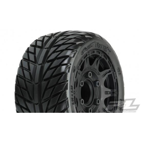 "Pro-Line street fighter LP 2.8"", Raid black wheels (2)"
