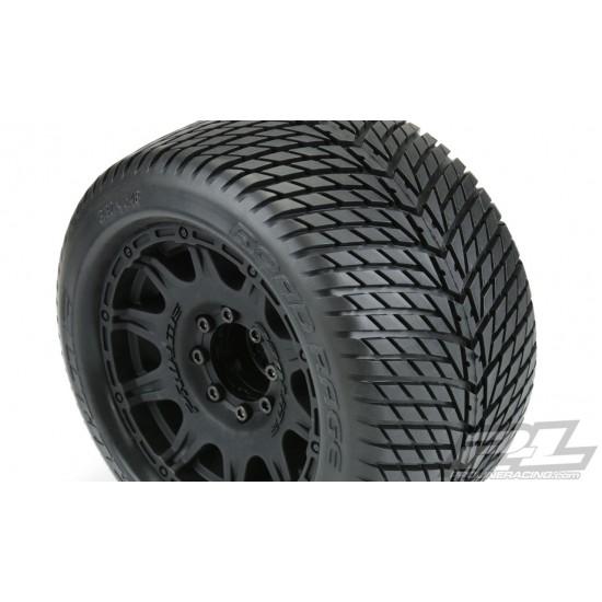 """Pro-Line Road Rage 3.8"""", Raid black wheels (2)"""